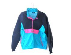 Men Windbreaker Neon Windbreaker Jacket XL by TheVilleVintage, $54.99