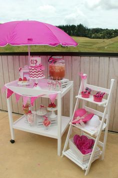 Party Inspirations | Nevaeh's 6th Birthday Pink Pool Party by Kelly Warwick Cakes