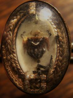 Mourning ring hair jewelry