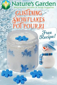 Free Snowflake Wax Potpourri Recipe by Natures Garden.