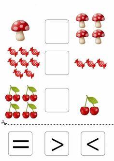 Kindergarten Math Worksheets, Preschool Learning, Math Activities, Math For Kids, Puzzles For Kids, Act Math, Learning Sight Words, Numbers For Kids, Question Paper