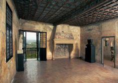 """casa del petrarca arquà petrarca   ... Casa del Petrarca (part. della """"stanza di Venere"""") - Arquà Petrarca"""