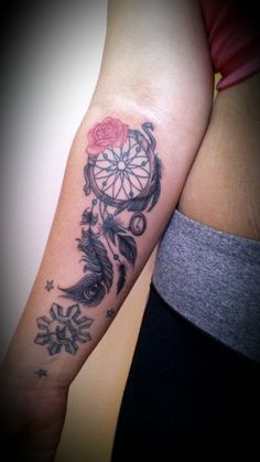 Dreamcatcher tattoo for the forearm ♥