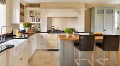 A new open plan kitchen with a traditional pantry larder has transformed Alison and James Dewhurst's home Barn Kitchen, Tidy Kitchen, Kitchen Sale, Open Plan Kitchen, Kitchen Redo, Kitchen Living, New Kitchen, Kitchen Ideas, Kitchen Sinks
