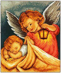 GRAFICOS PUNTO DE CRUZ GRATIS : ANGEL