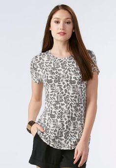 Cato Fashions Abstract Pointillism Tee #CatoFashions