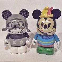 Mickey Through the Years by Enrique Pita: Mail Pilot Mickey & Brave Little Tailor Mickey