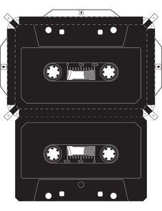 Imprimible para invitaciones de cajita con un toque musical.