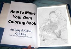 How to make a coloring book! SO EASY and cheap! Perfect for birthday parties for all my kid's little friends!!!