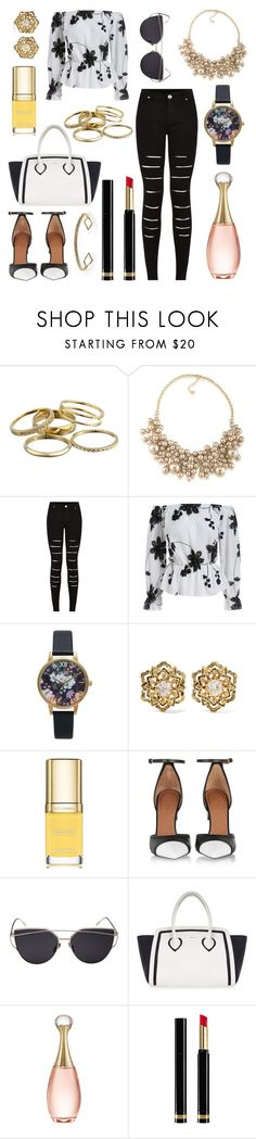 """""""b&w"""" by angelicaaans ❤ liked on Polyvore featuring Kendra Scott, Carolee, Topshop, Fred Leighton, Dolce&Gabbana, Givenchy, Furla, Christian Dior, Gucci and FOSSIL"""