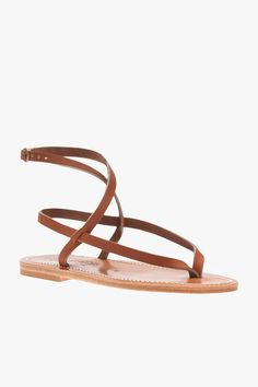 The Delta Sandal from K. Jacques features a strappy design, a side buckle fastening, and a brand embossed insole. Wear them with jeans or a sundress Leather Gold High Heel Sandals, Bow Sandals, Watch Cufflinks, Bohemian Sandals, Chelsea Ankle Boots, Monogram Styles, Natural Leather, Sock Shoes, Types Of Shoes