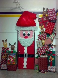 Christmas door decoration--I wish we could decorate our WHOLE door at work!