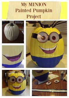 Craft: Making my own Minion Pumpkin #fall #pumpkin #minions #minion #despicableme