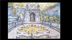 Rosângela Vig Arte com lápis e em telas : Paláciodos Marqueses de Fronteira, Portugal, lápis...
