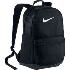 The Nike™ Brasilia XL II Backpack features a front pocket and Swoosh design trademark.