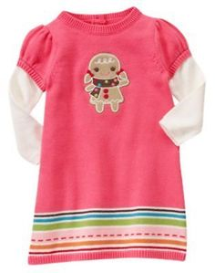 GYMBOREE-WINTER-CHEER-PINK-GINGERBREAD-GIRL-SWEATER-DRESS-3-6-12-18-3T-4T-5T-NWT