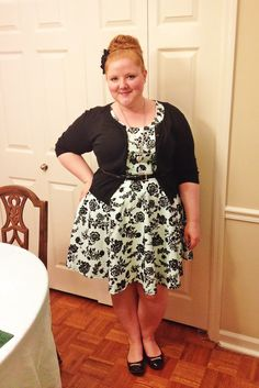 OOTD: Peppermint Patty. Your Clothing. Dress Barn. Lane Bryant. Anthropologie. Mint. Black. Plus size fashion. www.withwonderandwhimsy.com