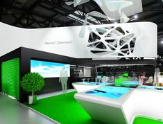 Cutting-edge design with cutting-edge technology Exhibition Stall, Exhibition Stand Design, Exhibition Display, Trade Show Design, Display Design, Stand Feria, Expo Stand, Material Design, Retail Design