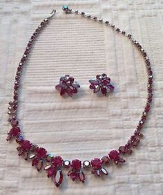 Beautiful Vintage Sherman Necklace AND Earrings   eBay