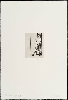 Bea Maddock, Cripple II, from the portfolio Melbourne I, II and III Year: (1967-1968) printed (2002) Materials used: drypoint, black ink on white Hahnemühle paper Edition: 4/20 Dimensions: 10.1 x 7.6 cm platemark; 39.6 x 26.8 cm sheet