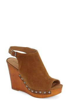 Lucky Brand 'Larae' Wedge Sandal (Women) available at Womens High Heels, Womens Flats, Womens Training Shoes, Beautiful Shoes, Wedge Sandals, Lucky Brand, Me Too Shoes, Fashion Shoes, Shoes Heels