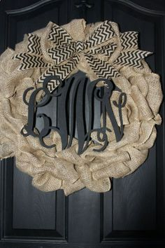 Burlap Wreath Etsy Wreath Summer wreaths for by OurSentiments, $90.00...Love this one Virginia!