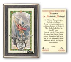 Bliss St Michael Pendant Necklace with Holy Prayer Card Gift Set