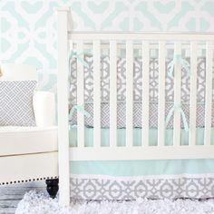 Nursery Design Ideas & Inspiration- Aqua & Gray Shop for Aqua and Gray Nursery Pieces  Related
