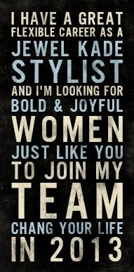 Looking to start your own business?  Join my team in sharing Jewel Kade's artisan jewelry and inspired decor. Start earning 25%-30% commissions on every piece you sell. It's flexible, it's your business, your schedule. Work as much or as little as you like. Team commissions- share the JK opportunity and earn even more. Receive over six hundred dollars in jewelry and supplies for your business when you sign up. Talk to me about joining today!