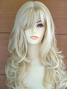 Long Wavy Blonde Lady Fashion Wig! VOGUE Wigs UK! | eBay