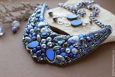 "Купить Комплект ""Млечный путь"" - синий, темно-синий, серый, серо-синий, шторм, море"