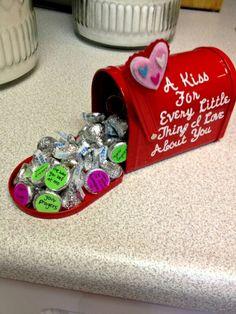 Besos con mensajitos de amor