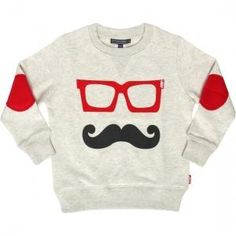 Baby's Got Style // Gentlemen moustache jumper
