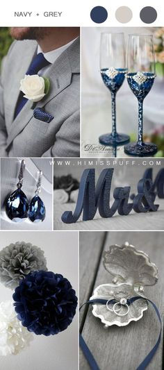 navy blue and grey wedding color ideas #wedding #weddingcolors #weddingideas #colors #wedding2020 ...rom the invitation cards to the dresses gifts favors decorations and place cards to create a cohesive effect.If your selection of invitations is l...le for an indoor portion of your wedding.The time of the wedding is also another consideration in choosing the colors. For weddings held during the mo #images.weddingsbywednesday.com #wedding-colors-schemes #weddings