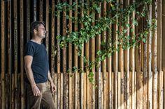 Mein Ziel war es eine Holzwand / Sichtschutz zu entwerfen wo in die Umgebung passt und wärme ausstrahlt! Outdoor Structures, Wood Stone, Wood Walls, Privacy Screens, Environment, Remodels, Goal, Lawn And Garden