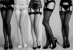 Vintage awesomeness....beautiful nylon stockings and garters.