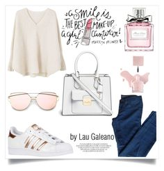 """outfit superstar"" by lauvgaleano on Polyvore featuring MANGO, J Brand, Christian Dior and Michael Kors"