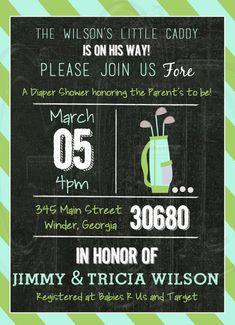 Golf Baby Shower or Birthday Invitation  by graciegirldesigns77