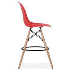 Charles Eames Style Rot DSW Hocker | Küche & Barhocker | Cult DE