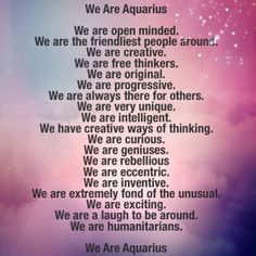 Credit to all of the Aquarians that answered on why they are so proud to have this sign. #Aquarius #astrology #starsigns #badastrology #zodiac