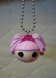 Lalaloopsy Necklace- Jewel Sparkles. $5.00, via Etsy.