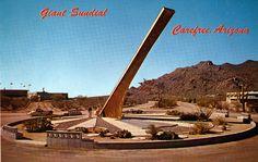 Giant Carefree Sundial AZ | by Edge and corner wear