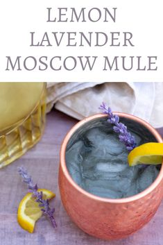 Lemon Lavender Infused Vodka - Wine a Little, Cook a Lot Easy, DIY lemon lavender infused vodka makes a refreshing Spring or Summer cocktail. Try it in a lemon lavender Moscow mule or sparkling lemon lavender lemonade! Lavender Cocktail, Lemonade Cocktail, Margarita Recipes, Cocktail Recipes, Summer Drinks, Fun Drinks, Beverages, Infused Vodka, Vodka Lime