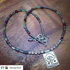#Repost @designs2c  I've been working on some conceptual pieces for the last couple weeks and redoing my studio. But I still like to play with beads and these are some of my favorite. #czechglass  #hilltribesilver