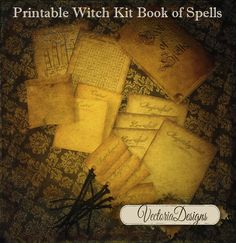 Small Book of Spells gift set for white witches! Note: this is just for fun, not suitable for real aspiring witches.  1. Printable box (5 x 3.25 when assembled) 2. Printable bags to hold magic ingredients (2.75 x 2.50 when assembled) 3. Printable note sheets to write spells and magic ingredients on (4.51 x 3.16) 4. Printable sheet with alchemy symbols (4.51 x 3.16) 5. Printable sheet with hand reading image (4.51 x 3.16) 6. Printable Blank tags (2.20 x 1.12) 7. Printable Tags with Magic…