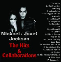"Michael & Janet Jackson - ""The Hits & Collborations"" Mixtape Compilation CD"