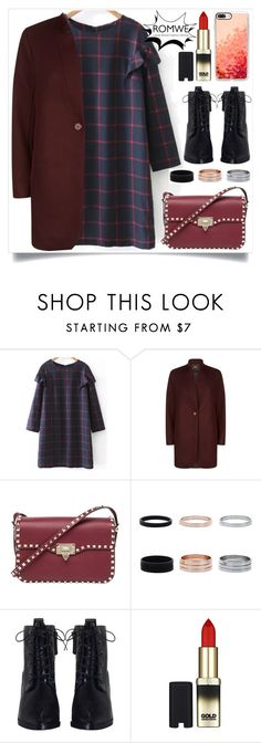 """""""romwe"""" by itsybitsy62 ❤ liked on Polyvore featuring Maje, Valentino, Zimmermann, L'Oréal Paris and Casetify"""