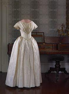 Susan Osgood Jones, 1844 Wedding dress