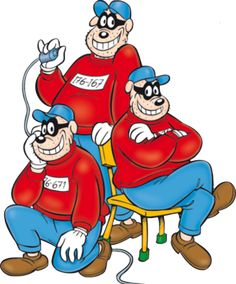 The Beagle Boys being casual.