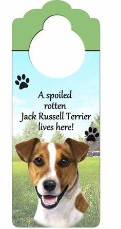 Jack Russell Terrier Dog Door Knob Hanger
